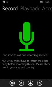 تطبيق تسجيل المكالمات ويندوز فون