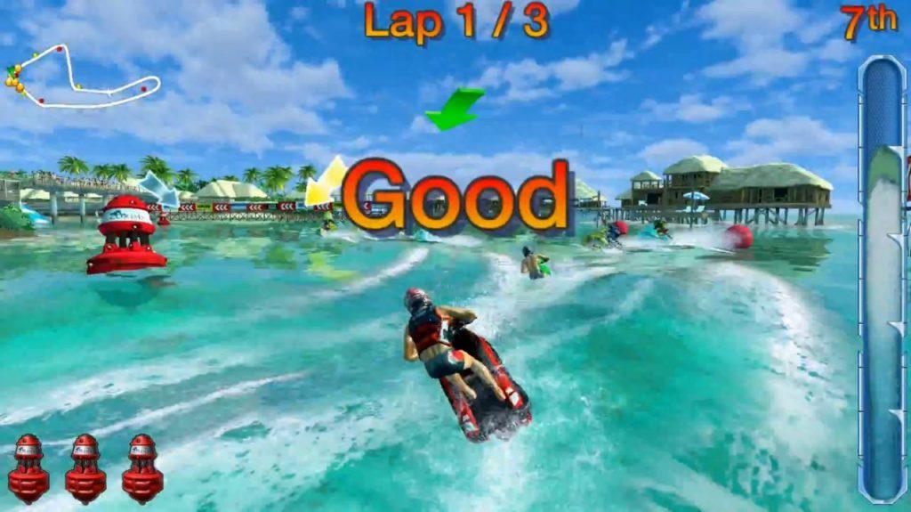 لعبة سباق الدراجات المائية